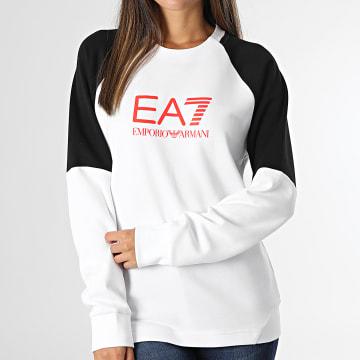 EA7 Emporio Armani - Sweat Crewneck Femme 6KPM41 Blanc