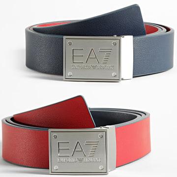 EA7 Emporio Armani - Ceinture Réversible 245524 Bleu Marine Rouge