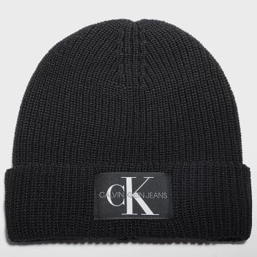 Calvin Klein - Bonnet Femme Monogram Beanie 7383 Noir