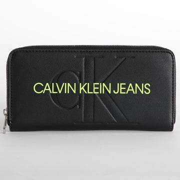 Calvin Klein - Portefeuilles Femme Sculpted Mono 8397 Noir