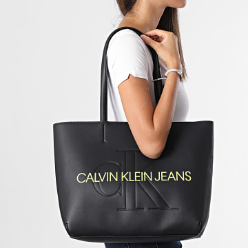Calvin Klein - Sac A Main Femme Sculpted Shopper 8374 Noir