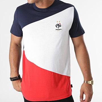 FFF - Tee Shirt Color Block F21003C Bleu Marine Blanc Rouge