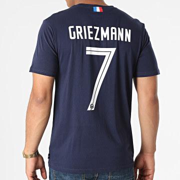 FFF - Tee Shirt Player Griezmann N7 F21008C Bleu Marine