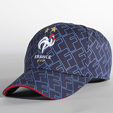 FFF - Casquette All Over Bleu Marine