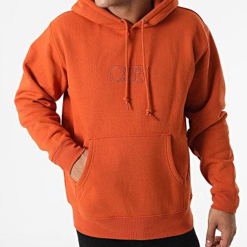 Obey - Sweat Capuche Obey Regal Orange