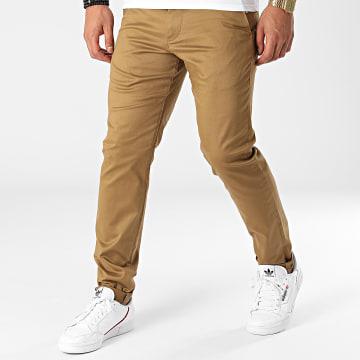 Selected - Pantalon Chino Slim Buckley 175 Camel