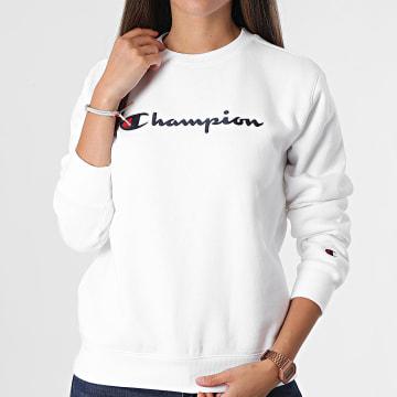 Champion - Sweat Crewneck Femme 114462 Blanc