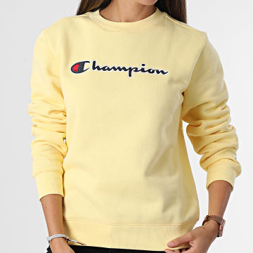 Champion - Sweat Crewneck Femme 114462 Jaune