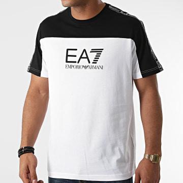 EA7 Emporio Armani - Tee Shirt A Bandes 6KPT10-PJ7CZ Blanc Noir