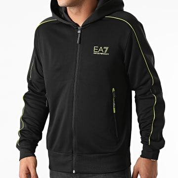 EA7 Emporio Armani - Veste Zippée Capuche 6KPM34-PJ16Z Noir