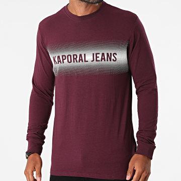 Kaporal - Tee Shirt Manches Longues Ringo Bordeaux