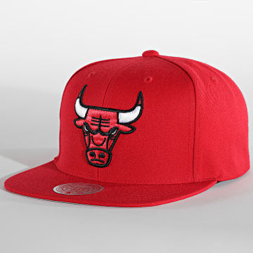 Mitchell and Ness - Casquette Snapback Team Heather Chicago Bulls Rouge