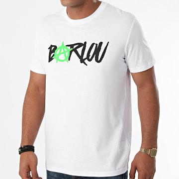 Neochrome - Tee Shirt Chest Neon Green Blanc