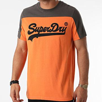 Superdry - Tee Shirt M1011256A Orange Gris Anthracite