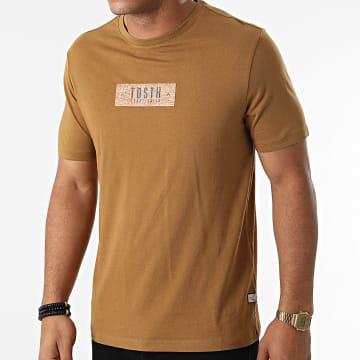 Teddy Smith - Tee Shirt Nikola Marron