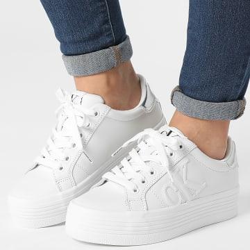 Calvin Klein - Baskets Femme Vulcanized Platform Mono 0395 White