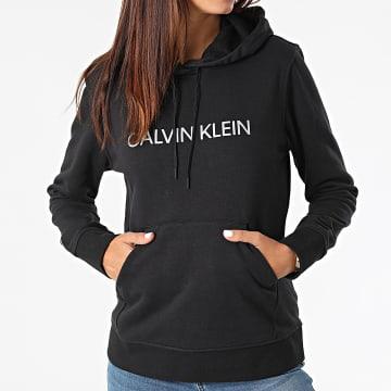 Calvin Klein - Sweat Capuche Femme W311 Noir