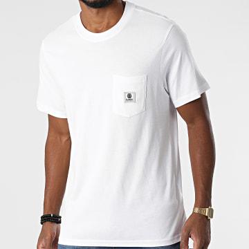 Element - Tee Shirt Poche Basic Pocket Label Z1SSI1-ELF1 Blanc