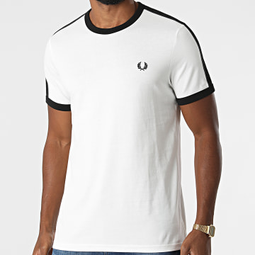 Fred Perry - Tee Shirt A Bandes Tonal Taped Ringer M2681 Ecru