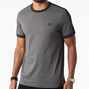 Fred Perry - Tee Shirt A Bandes Tonal Taped Ringer M2681 Gris Anthracite