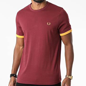 Fred Perry - Tee Shirt Ringer Bordeaux