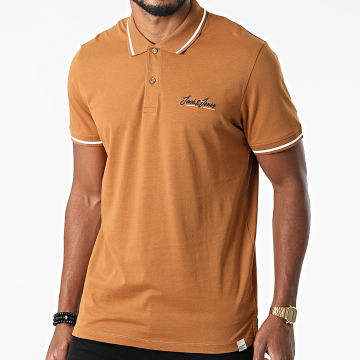 Jack And Jones - Polo Manches Courtes Tons Marron