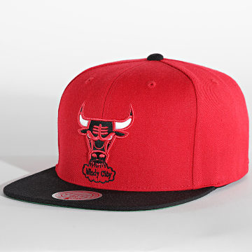 Mitchell and Ness - Casquette Snapback Wool 2-Tone Chicago Bulls Rouge
