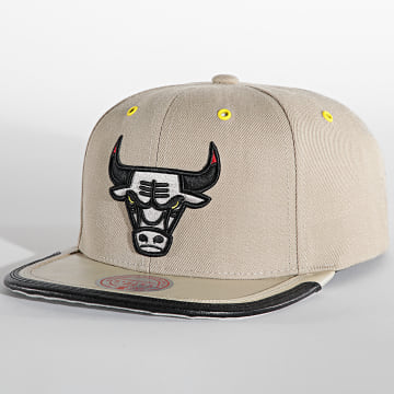 Mitchell and Ness - Casquette Snapback Day 3 Snapback Chicago Bulls Beige
