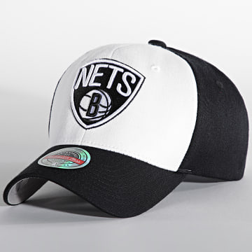 Mitchell and Ness - Casquette Front Post Stretch Brooklyn Nets Noir Blanc