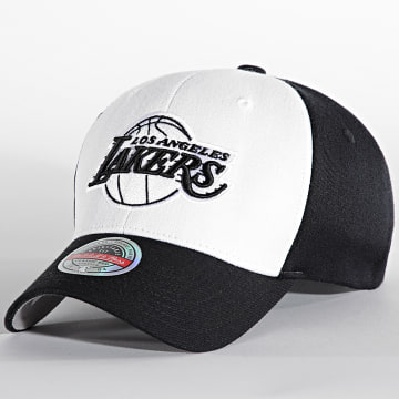 Mitchell and Ness - Casquette Front Post Stretch Los Angeles Lakers Noir Blanc