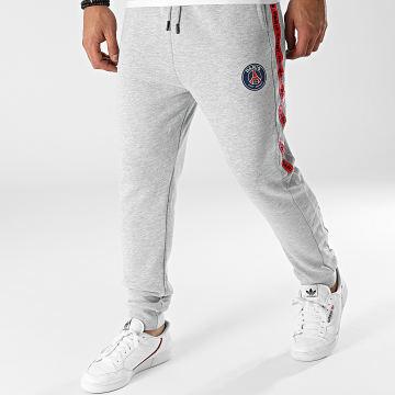 PSG - Pantalon Jogging A Bandes P14131 Gris Chiné