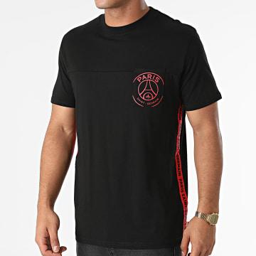 PSG - Tee Shirt Poche A Bandes Pocket Stripes P14125C-CL05 Noir