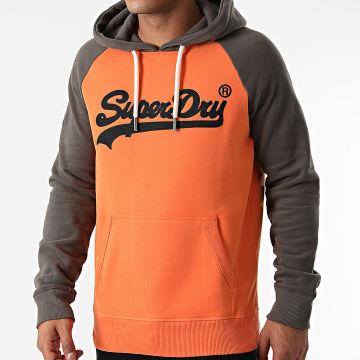 Superdry - Sweat Capuche M2011562A Orange Marron