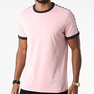 Fred Perry - Tee Shirt A Bandes Taped Ringer M6347 Rose
