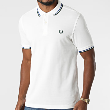 Fred Perry - Polo Manches Courtes Twin Tipped M3600 Ecru