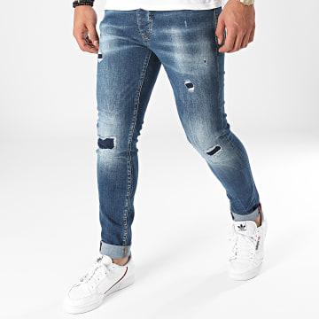 Paname Brothers - Jean Slim PB-Jeans-12 Bleu Denim