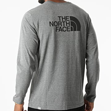 The North Face - Tee Shirt Manches Longues A2TX1 Gris Anthracite Chiné