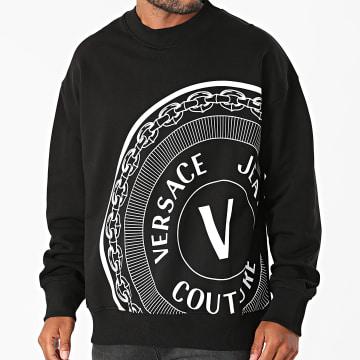 Versace Jeans Couture - Sweat Crewneck Off Centered V Emblem 71GAIT11-CFOOT Noir