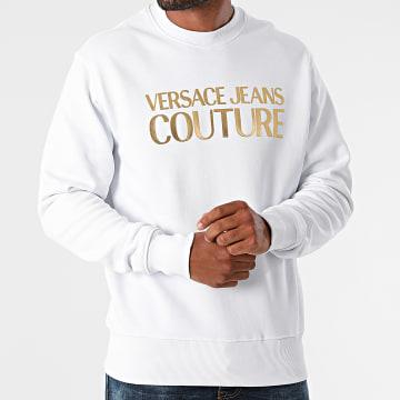 Versace Jeans Couture - Sweat Crewneck Logo Foil 71GAIT08-CFOOT Blanc Doré