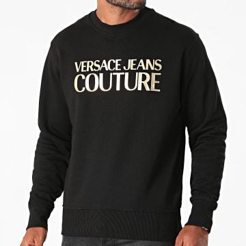 Versace Jeans Couture - Sweat Crewneck Logo Foil 71GAIT08-CFOOT Noir Doré