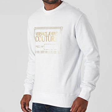 Versace Jeans Couture - Sweat Crewneck Piece Foil 71GAIT15-CFOOT Blanc Doré