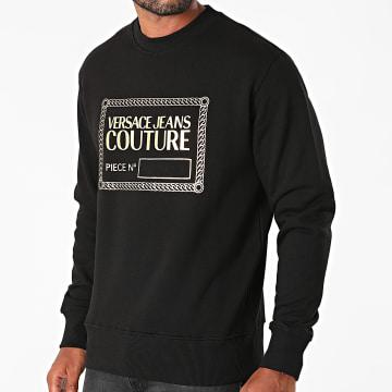 Versace Jeans Couture - Sweat Crewneck Piece Foil 71GAIT15-CFOOT Noir Doré