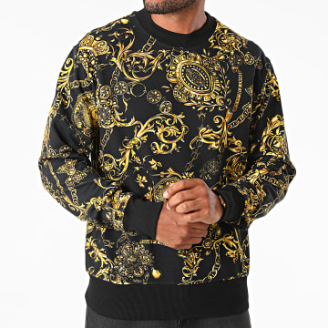 Versace Jeans Couture - Sweat Crewneck Reg Print Bijoux Baroque 71GAI3R0-FS002 Noir Renaissance