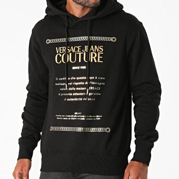 Versace Jeans Couture - Sweat Capuche Garanzia 71GAIT10-CFOOT Noir Doré