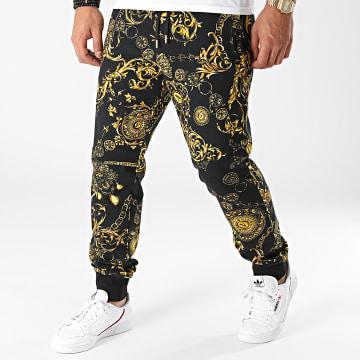 Versace Jeans Couture - Pantalon Jogging Print Bijoux Baroque 71GAA3B0-FS002 Noir Renaissance