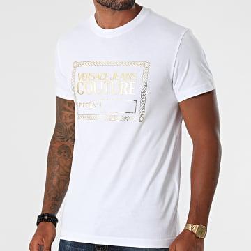 Versace Jeans Couture - Tee Shirt Piece NR Foil 71GAHT27-CJ00T Blanc Doré