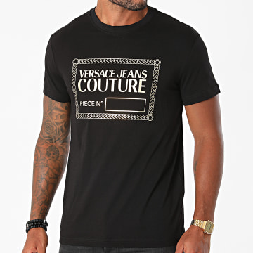 Versace Jeans Couture - Tee Shirt Piece NR Foil 71GAHT27-CJ00T Noir Doré