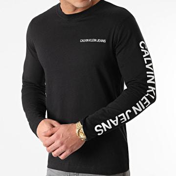 Calvin Klein - Tee Shirt Manches Longues Institutional 0547 Noir
