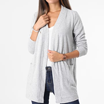 Noisy May - Cardigan Femme City Gris Chiné