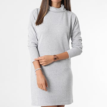 Noisy May - Robe Pull Femme A Manches Longues City Gris Chiné